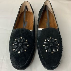 Comfort View 10W Faux Suede Beaded Moccasins Flats